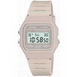 Casio Unisex CASIO Collection Digital Display Grey Rubber Strap Watch F-91WC-8AEF