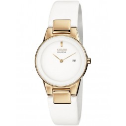 Citizen Ladies White Strap Watch GA1053-01A
