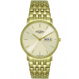 Rotary Mens Gold Plated Bracelet Watch GB02624-03-DD