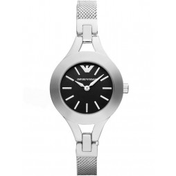 Emporio Armani Ladies Black Dial Watch AR7328
