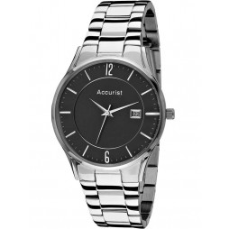 Accurist Mens Black Dial Watch MB649B