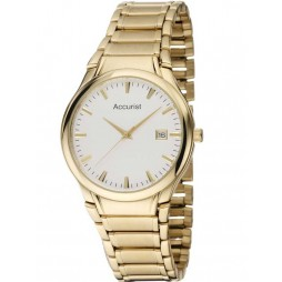 Accurist Mens Gold Plated Bracelet Watch MB864W
