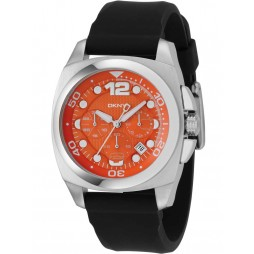 DKNY Mens Orange Dial Chronograph Watch NY1446