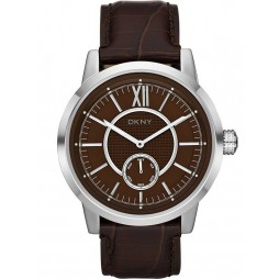 DKNY Mens Fancy Leather Strap Watch NY1521
