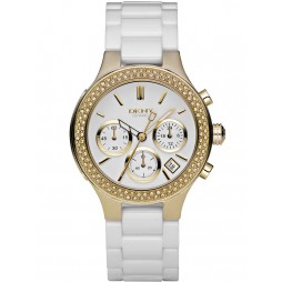 DKNY Unisex Ceramic Fashion Watch NY4986