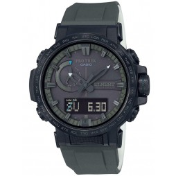 Casio Mens Protrek Grey Rubber Strap Watch PRW-60ECA-1AJR