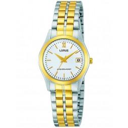 Lorus Ladies Round Dial Two Tone Bracelet Watch RH770AX9