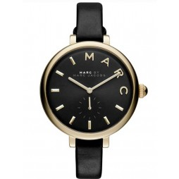 Marc Jacobs Ladies  Black Leather Strap Watch MJ1416