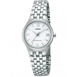 Lorus Ladies Stainless Steel White Dial Bracelet Watch RRS01UX9