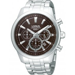 Lorus Mens Chronograph Stainless Steel Bracelet Watch RT359AX9