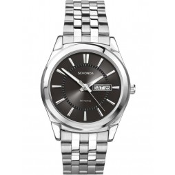 Sekonda Mens Black Dial Bracelet Watch 3479