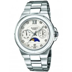 Casio Sheen Stone White Multi Dial Watch SHE-3500D-7AER