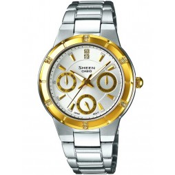 Casio Sheen Ladies Two Tone Bracelet Watch SHE-3800SG-7AEF