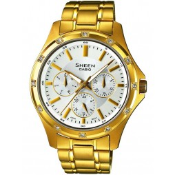 Casio Sheen Gold Plated Silver Multi Watch SHE-3801GD-7AEF