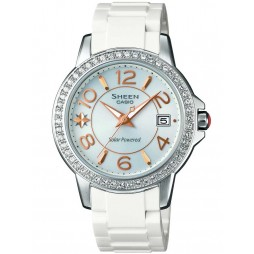 Casio Sheen White Plastic Mother Of Pearl Watch SHE-4026SB-7ADR