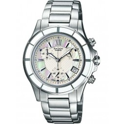 Casio Sheen Ladies Two Tone Chronograph Watch SHE-5512SG-7ADF