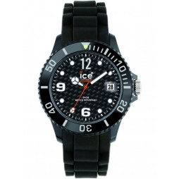 Ice-Watch Unisex Rubber Strap Watch SI.BK.U.S.12