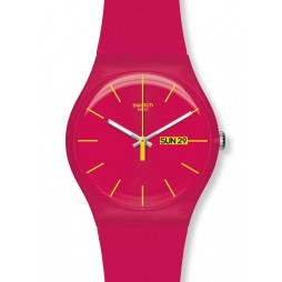 Swatch Unisex Rubine Rebel Watch SUOR704