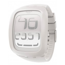 Swatch Unisex Touch Digital Rubber Strap Watch SURW100