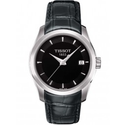 Tissot Ladies Couturier Black Leather Strap Watch T035.210.16.051.00