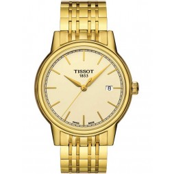 Tissot Mens Gold Plated Bracelet Watch T085.410.33.021.00
