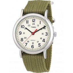 Timex Mens Weekender Green Strap Watch T2N651