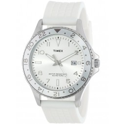 Timex Unisex White Rubber Strap Watch T2P030