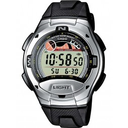 Casio Gents Steel Black Rubber Digital Strap Watch W-753-1AVES