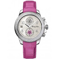 Thomas Sabo Ladies Pink Strap Watch WA0098-230-202