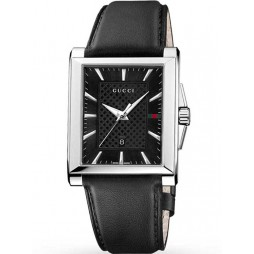 Gucci Mens G-Timeless Black Strap Watch YA138404