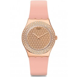 Swatch Ladies Pink Confusion Strap Watch YLG140