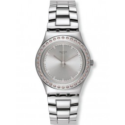 Swatch Ladies Pure Powder Cubic Zirconia Watch YLS172G