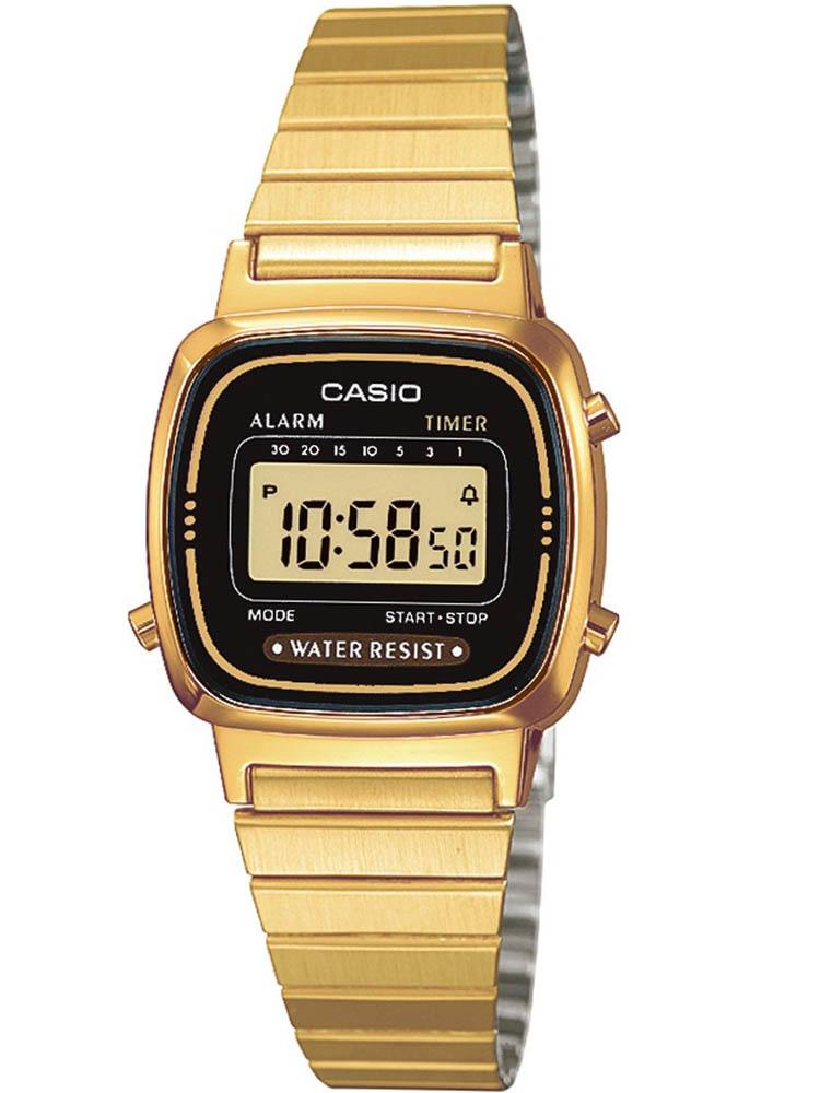 b75fa752b CasioCASIO Collection Retro Digital Gold Plated Bracelet Watch LA670WEGA-1EF