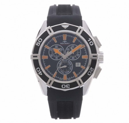 Rotary Mens Rubber Chronograph Watch Ags90088 C 04