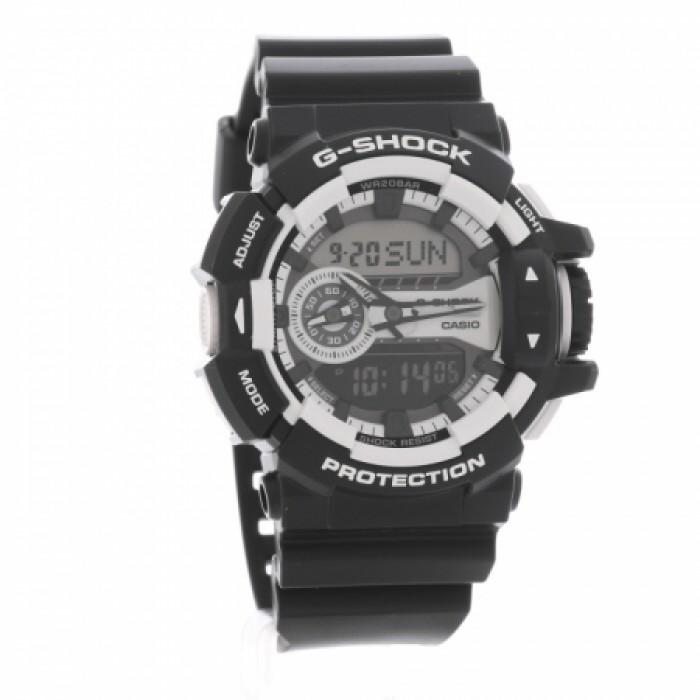 90c211def5dc Casio G-Shock Classic Dual Display White Plastic Strap Watch GA-400-1AER