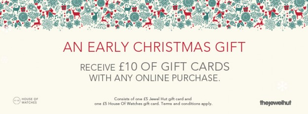 Receive £10 worth of gift cards