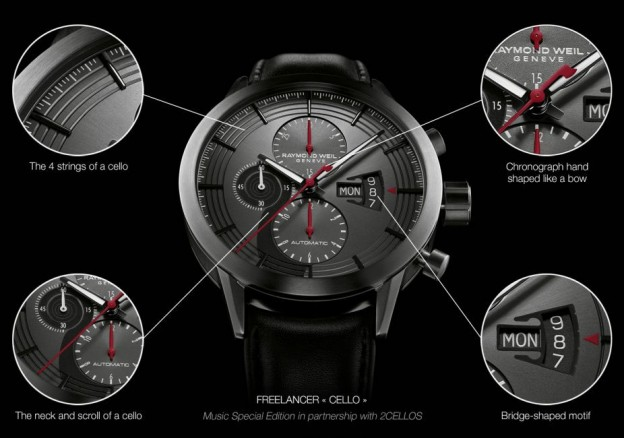The Cello Freelancer from Raymond Weil