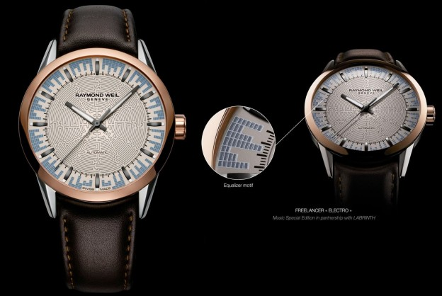 Raymond Weil Music Special Edition Freelancer 'Electro', in collaboration with Labrinth