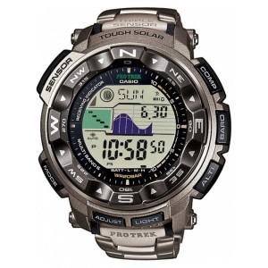 Casio Mens Pro Trek Titanium Alarm Chronograph PRW-2500T-7ER