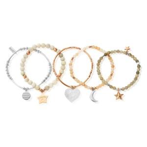 ChloBo Silver Luna Soul Five Bracelet Set