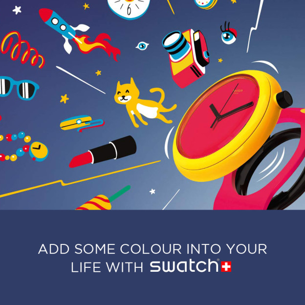 Add some colour into you life with Swatch