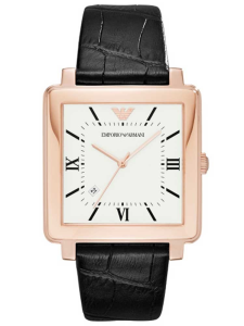 Rose Gold Square Watch Face